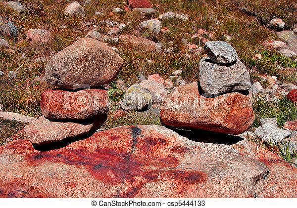 石, 積み重ねられた - csp5444133