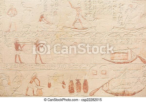 石, 象形文字, 背景, エジプト人 - csp22282015