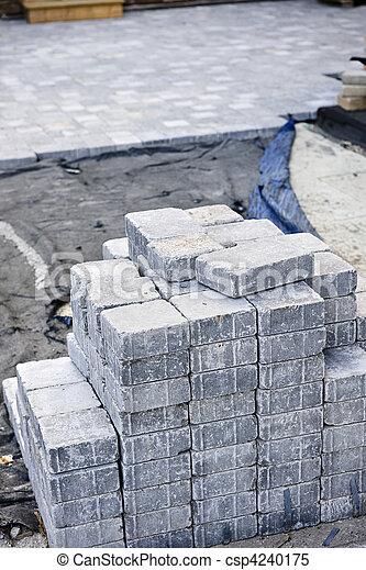 石, 連結, 私道 - csp4240175