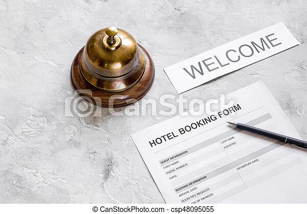 石, 部屋, 形態, ホテル, ペン, 背景, 予約, リング, 予約 - csp48095055