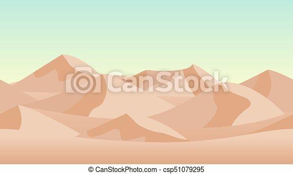 砂丘, バックグラウンド。, 砂, 砂漠の 景色 - csp51079295