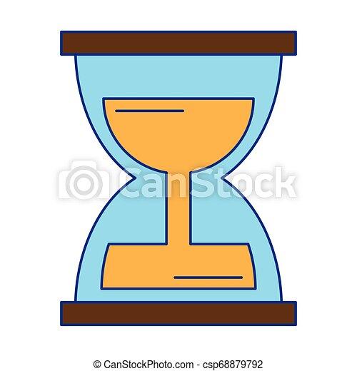 砂時計, 漫画, アイコン - csp68879792
