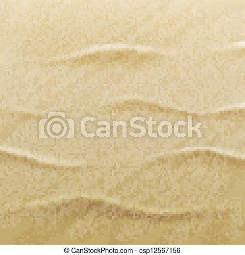 砂, ベクトル, 浜, 背景 - csp12567156