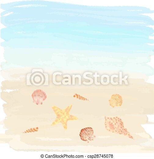 砂, 殻 - csp28745078