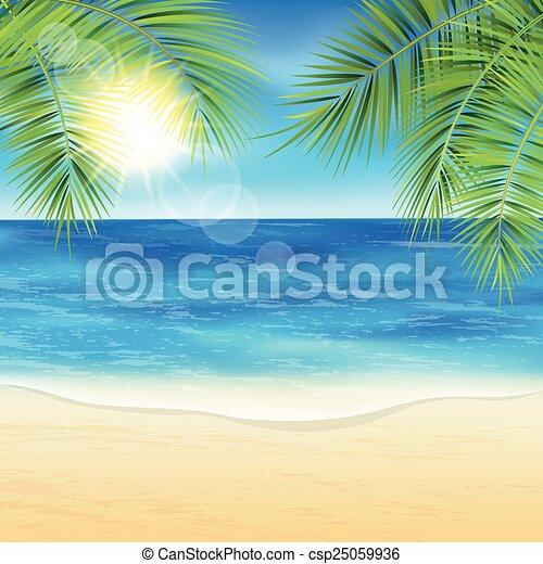 砂, 浜。 - csp25059936