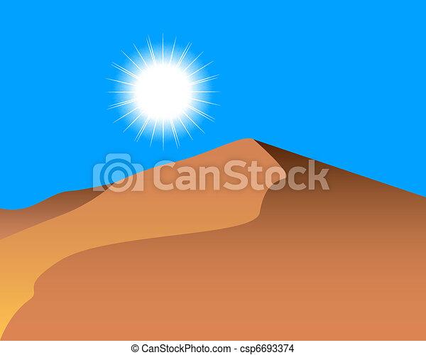 砂 砂丘 - csp6693374