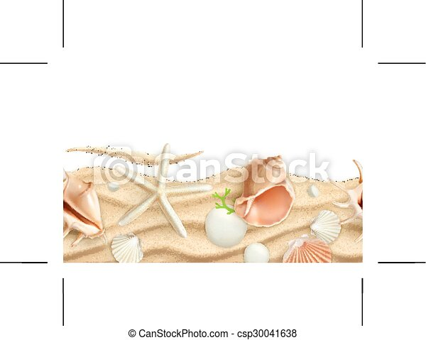 砂, 貝殻 - csp30041638