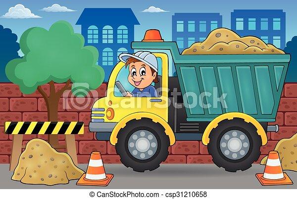 砂, 2, トラック, 主題, イメージ - csp31210658