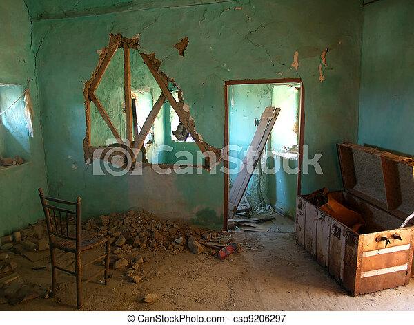 破壊された, 家, 台無しにされる - csp9206297