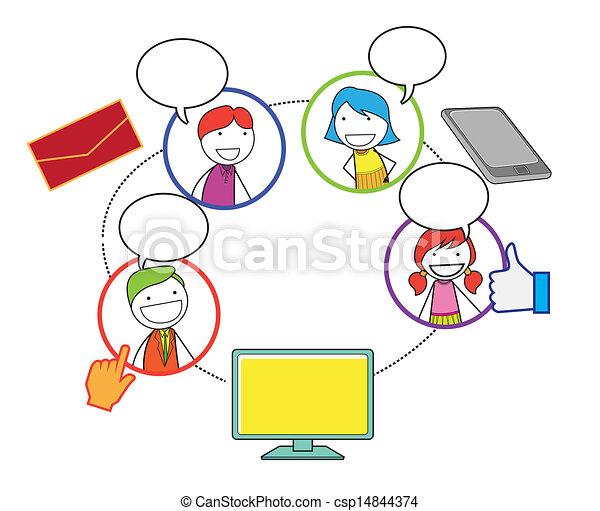 社会, ネットワーク, 人々 - csp14844374