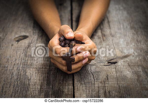 祈ること, 人 - csp15722286