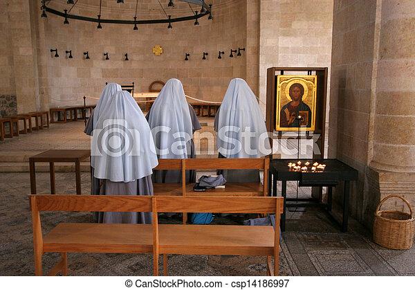 祈ること, 修道女 - csp14186997