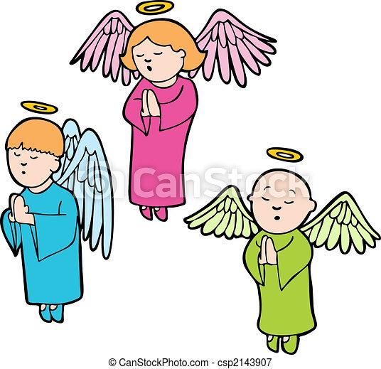 祈ること, 天使 - csp2143907