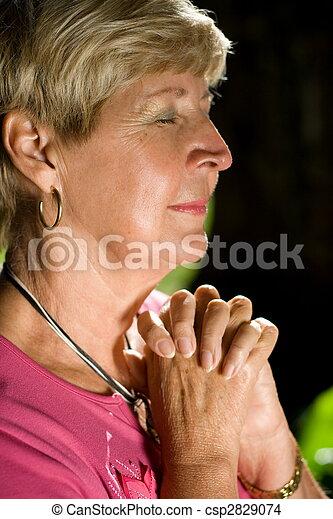 祈ること, 女 - csp2829074
