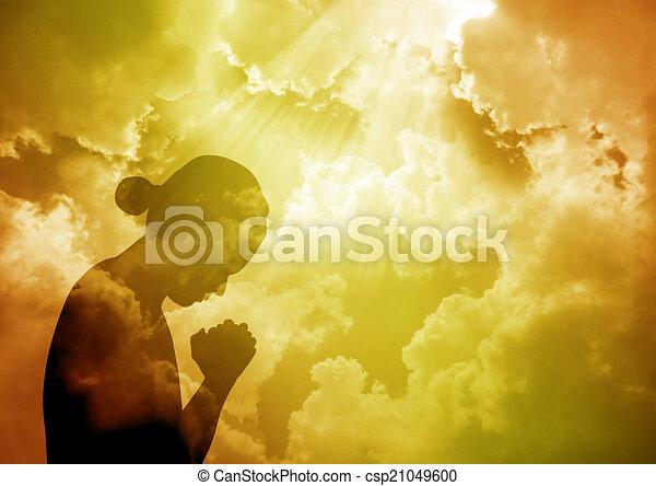 祈ること, 女 - csp21049600