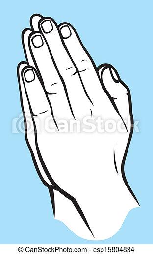 祈る 手 - csp15804834