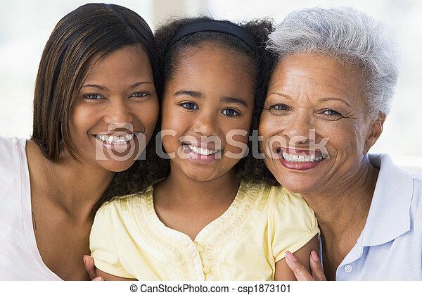 祖母, 娘, 成人, 孫 - csp1873101