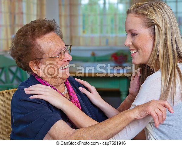 祖母, 孫, 訪問 - csp7521916