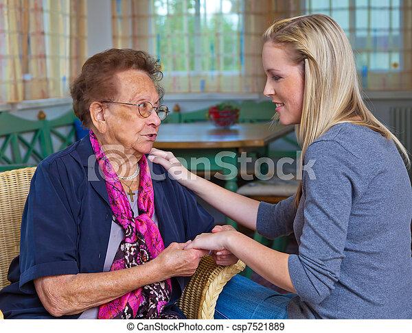 祖母, 孫, 訪問 - csp7521889