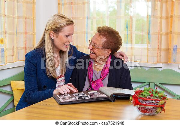 祖母, 孫, 訪問 - csp7521948