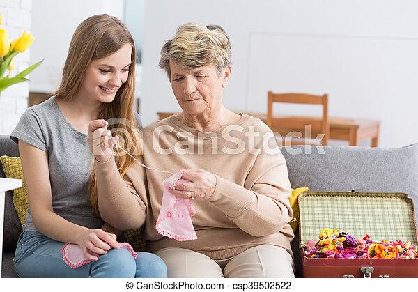 祖母, 宝物, trove, 私 - csp39502522