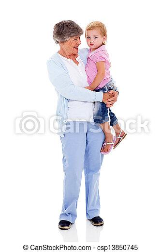 祖母, 届く, 彼女, 孫 - csp13850745