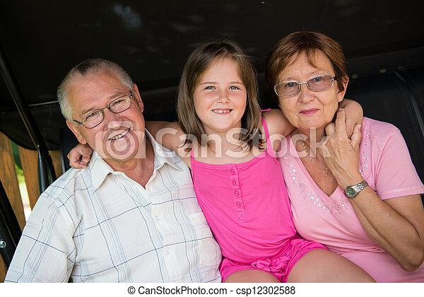 祖父母, 孫 - csp12302588