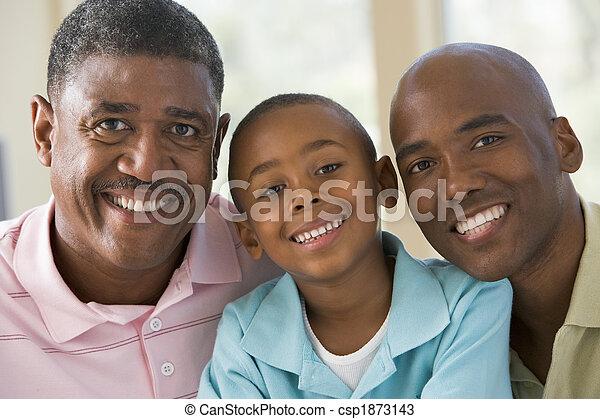 祖父, 成人, 孫, 息子 - csp1873143