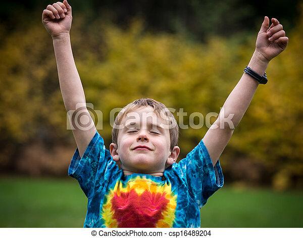 祝う, 幸せ, 男の子 - csp16489204