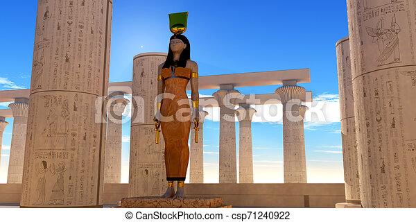 神, hathor, エジプト人 - csp71240922