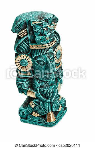 神, mayan, 隔離された, 像, メキシコ\ - csp2020111