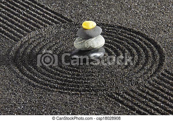 禅, 日本の庭 - csp18028908