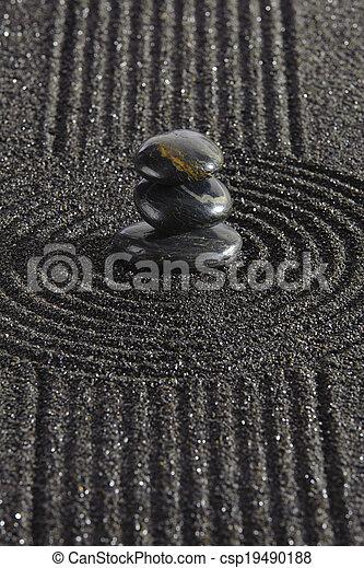 禅, 日本の庭 - csp19490188