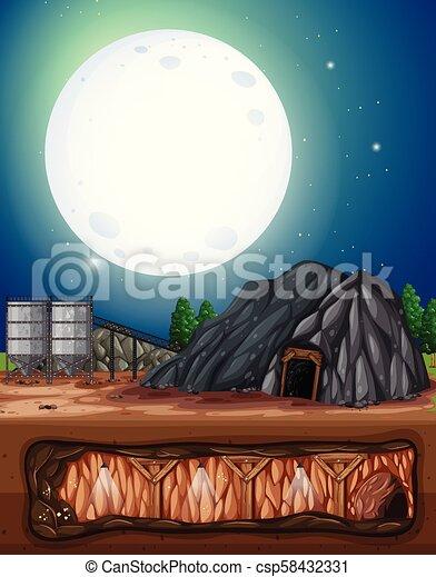 私の, 夜, 満月 - csp58432331