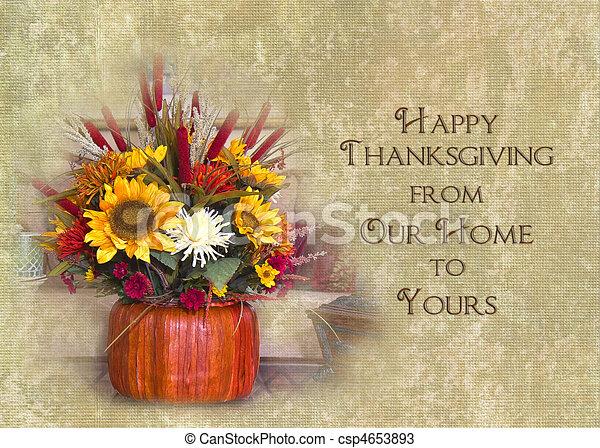 私達の, 幸せ, あなたの, 感謝祭, 家 - csp4653893