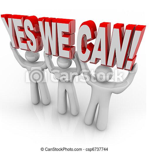 私達, 成功, -, 一緒に, 決定, 缶, チーム, はい, 仕事 - csp6737744