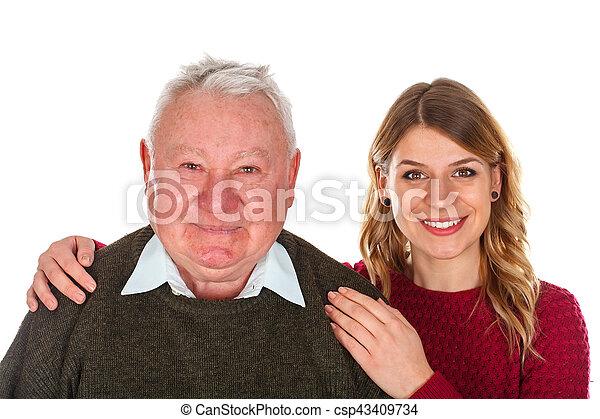 私, 愛, 祖父 - csp43409734