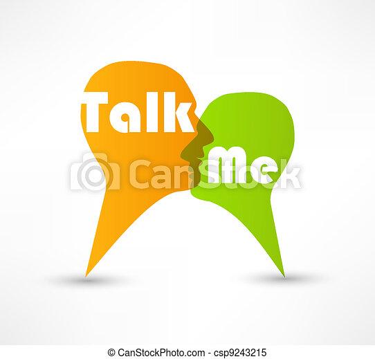 私, 泡, 概念, スピーチ, 話 - csp9243215