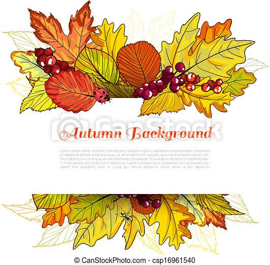 秋天, 邊框 - csp16961540