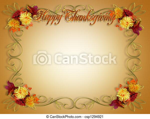 秋, ボーダー, 感謝祭, 秋 - csp1294921
