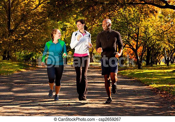 秋, 公園, ジョギングしなさい - csp2659267