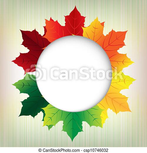 秋, 泡, 葉, スピーチ - csp10746032