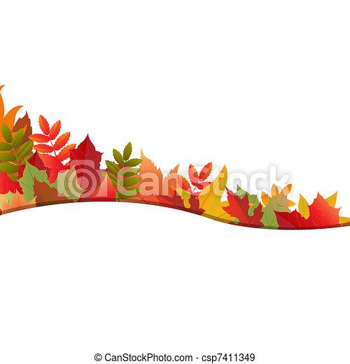 秋, 背景, leafs - csp7411349