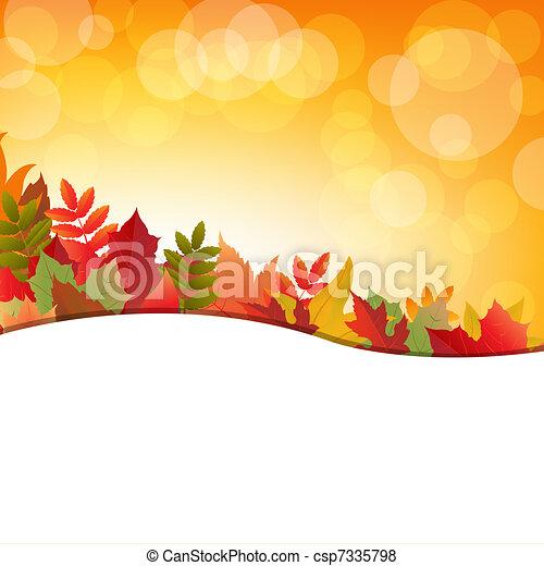 秋, 背景, leafs - csp7335798