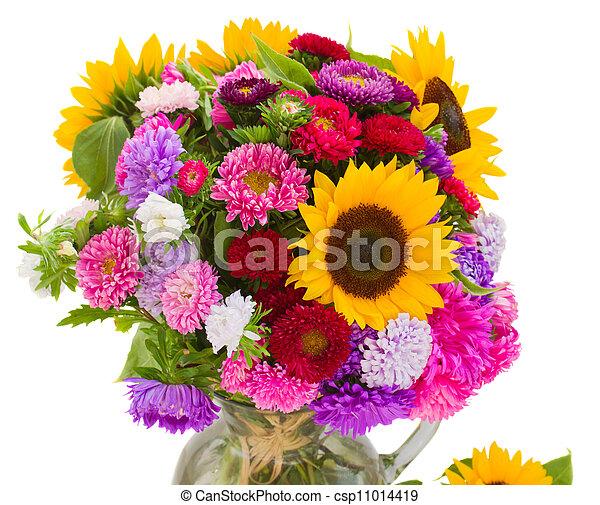 秋, 花束, 花 - csp11014419