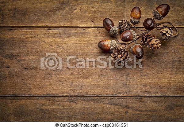 秋, 装飾, 木, 無作法, グランジ - csp63161351