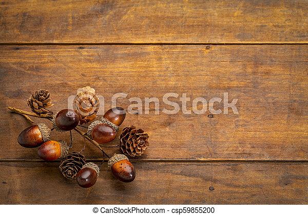 秋, 装飾, 木, 無作法, グランジ - csp59855200