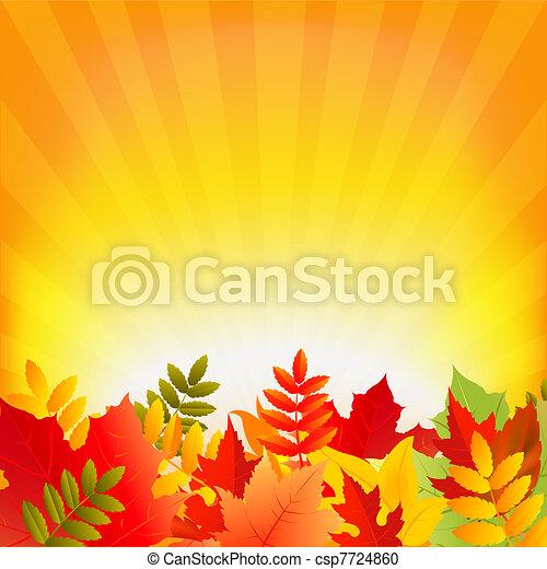 秋, sunburst, 背景 - csp7724860