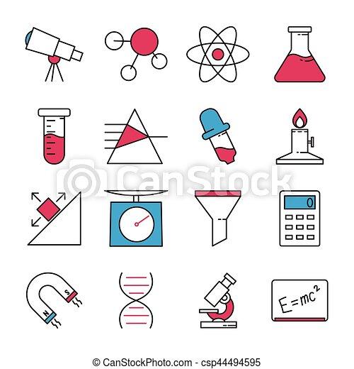 科学, セット, アイコン - csp44494595