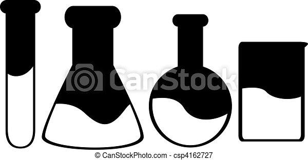 科學, 黑色半面畫像, 4, 容器 - csp4162727
